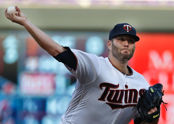 Twins pitcher Lance Lynn throws against the Detroit Tigers on Tuesday at Target Field.