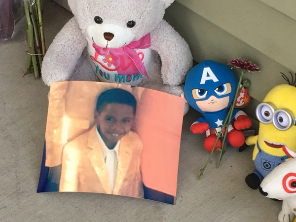 The death of 7-year-old Keyaris Samuels, who accidentally shot himself with a loaded handgun discovered in the home, was what drew the only protester