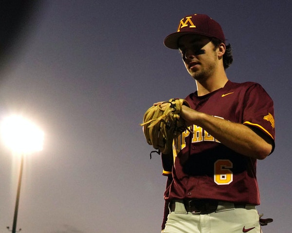 """Gophers shortstop Terrin Vavra hung around big leaguers as a kid. He came to the U with an """"advanced hittng approach."""""""