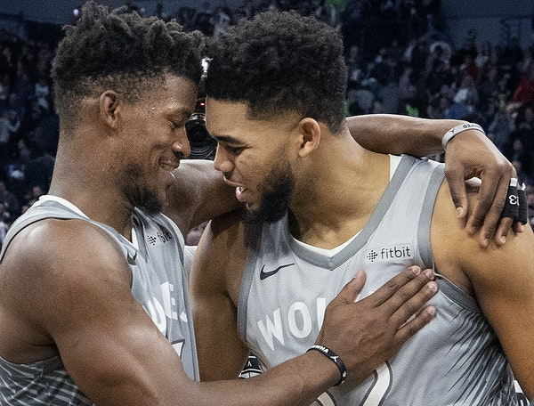 Jimmy Butler and Karl-Anthony Towns led the Wolves to their first playoff berth in 14 years.