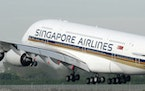 Singapore Airlines' Airbus A380 took off from the runway at Changi International Airport in 2007.