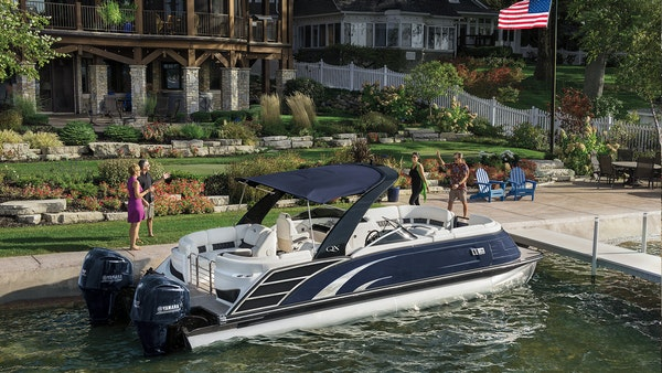 Polaris is buying Boat Holdings, the maker of Bennington pontoons, a model shown here. The $805 million deal is the largest by value that Polaris has
