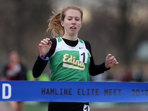 Emily Kompelien of Edina at the Hamline Elite Meet.