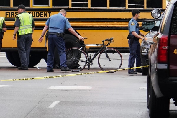According to St. Paul Police the school bus belonging to First Student was transporting students from St. Paul Ramsey Middle School when it struck and