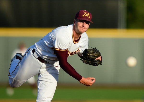 Minnesota pitcher Reggie Meyer works against Canisius in the second inning Friday.