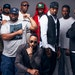 RZA (kneeling in front) and Raekwon (in Nike shirt) with the rest of the Wu-Tang Clan, which emerged out of the projects of Staten Island, N.Y., in th