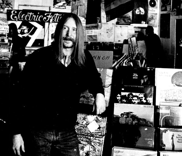 Co-owner Keith Covart, then 24, at the Electric Fetus in 1971.