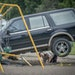 Minnesota State Patrol investigated the scene where a motorist being pursued by the State Patrol veered into a Minneapolis school playground and hit a
