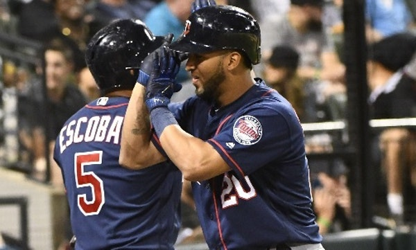Eduardo Escobar, left, and Eddie Rosario have combined for 39 percent of the Twins' home runs, 33 percent of their RBI and 33 percent of their extra