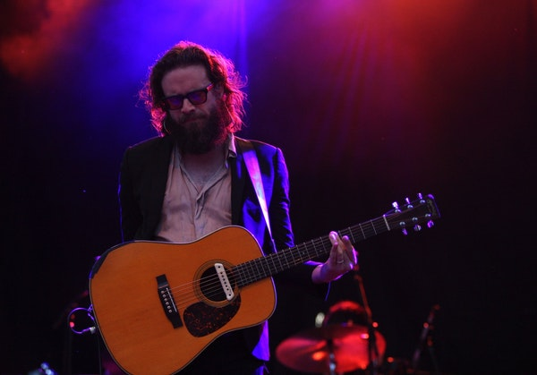 Father John Misty performed as the final act at Rock the Garden 2018 on Saturday.