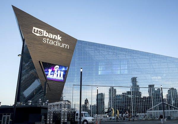 U.S. Bank Stadium, the site of Super Bowl LII on Feb. 4, in Minneapolis.
