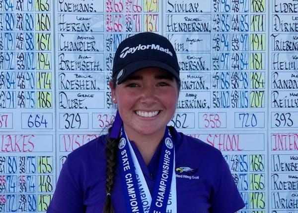Sophia Yoemans, Class 2A girls' golf individual champion.