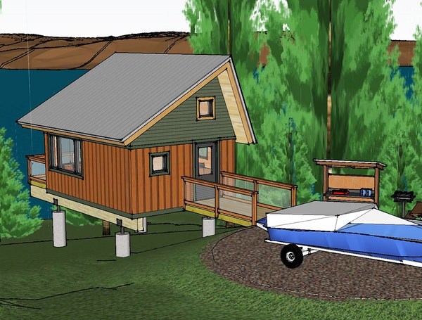 New camper cabins designed for Lake Vermilion-Soudan Underground Mine State Park will be bigger than conventional state park camper cabins and built w