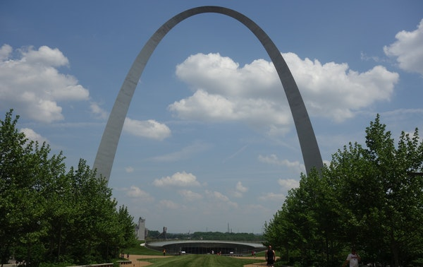 At 630 feet, the Gateway Arch in St. Louis is the tallest man-made monument in the United States.