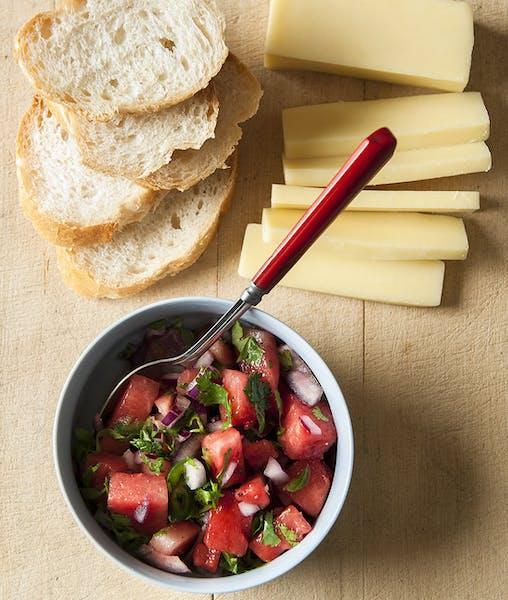 Strawberry Watermelon Salsa.