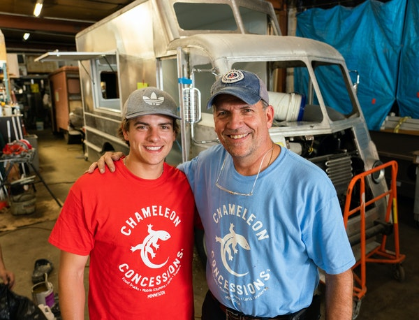 Mark Palm, owner of Minneapolis-based Chameleon Concessions, converted one of the Twin Cities area's first food trucks, Simply Steve's, in 2010 an