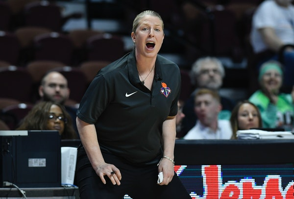 New York Liberty head coach Katie Smith