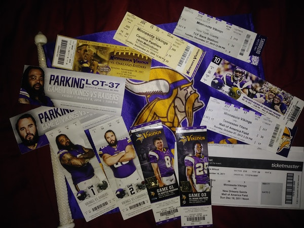 Amy Foster first went to a Vikings game in 2007 and tailgated in the parking lot for the first time in 2014. She's cherished the ticket stubs for ever