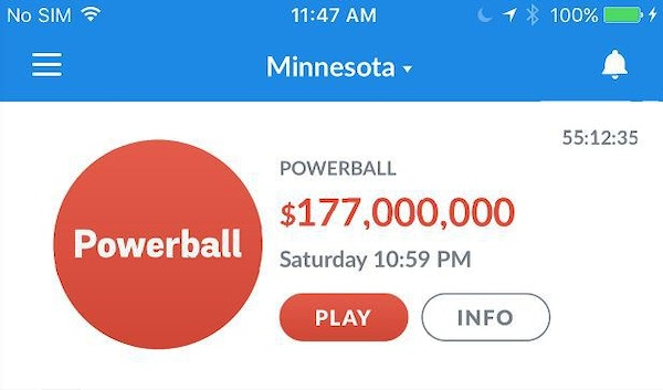 Minnesotans can now buy lottery tickets with an app on their smartphones.