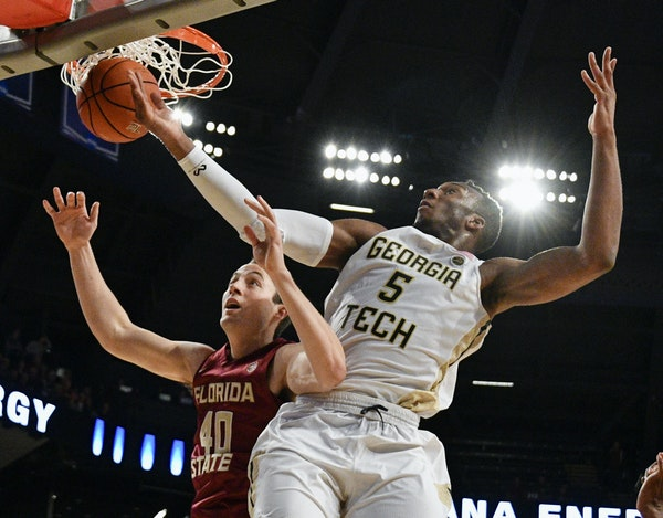 Josh Okogie (5) was a standout for Georgia Tech the past two seasons.