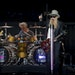 ZZ Top closed out their part of Friday night's concert at the new amphitheater outside Treasure Island Casino. Joining ZZ Top was John Fogerty, each p