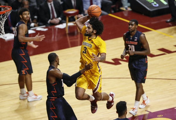 Gophers forward Jordan Murphy is one of several players from the U who could become NBA draft propsects next year.