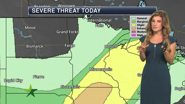 Morning forecast: Partly sunny, storms later; high 88