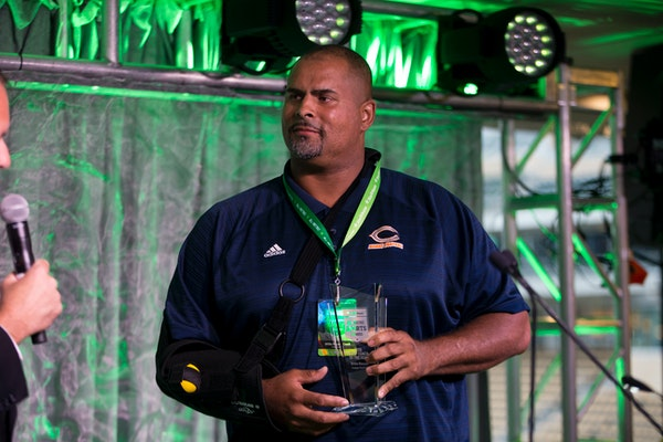 Willie Howard from Cooper football was named the Boys Team coach of the year.