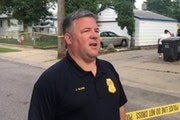 Minneapolis police spokesman John Elder addressed a news conference near the scene of the shooting in north Minneapolis on Saturday evening.