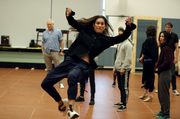 """Choreographer Maija Garcia worked with dancers during a rehearsal of the Guthrie's """"West Side Story."""""""