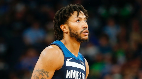 Veteran point guard Derrick Rose played in 14 games with the Wolves in 2018.