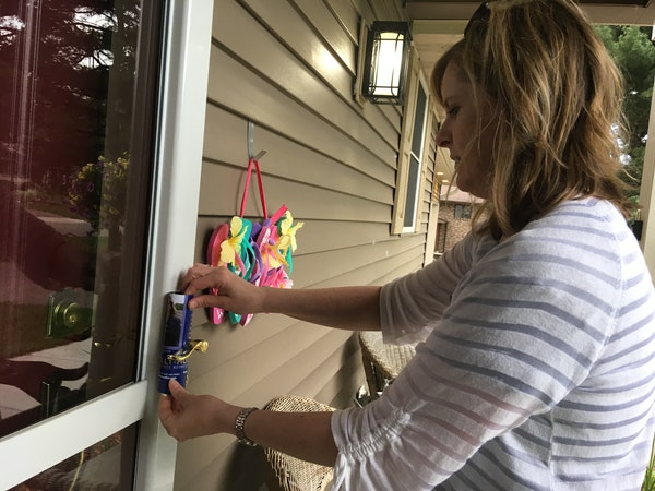 Kelly Moller, a first-time candidate who hopes to represent Arden Hills, Mounds View and Shoreview in the state House, knocked on doors in Mounds View