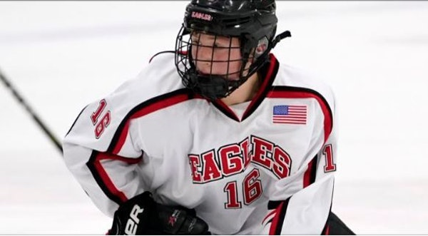 Eden Prairie's Luke Mittelstadt, who announced his commitment to the Gophers men's hockey program along with his brother John on Sunday.