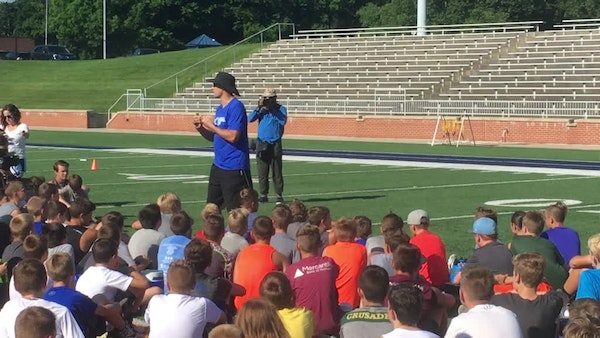 At his youth camp, Kirk Cousins gets to be a big kid
