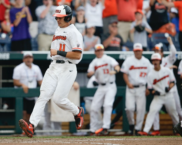 Oregon State third baseman Trevor Larnach was the Twins' first-round pick in the draft June 4.