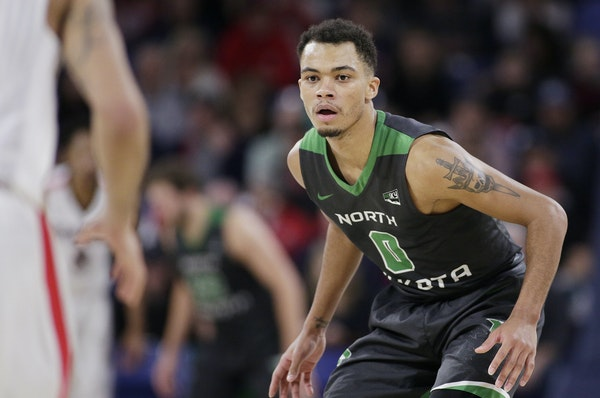 Geno Crandall, who played at DeLaSalle High School, helped North Dakota reach the NCAA tournament.