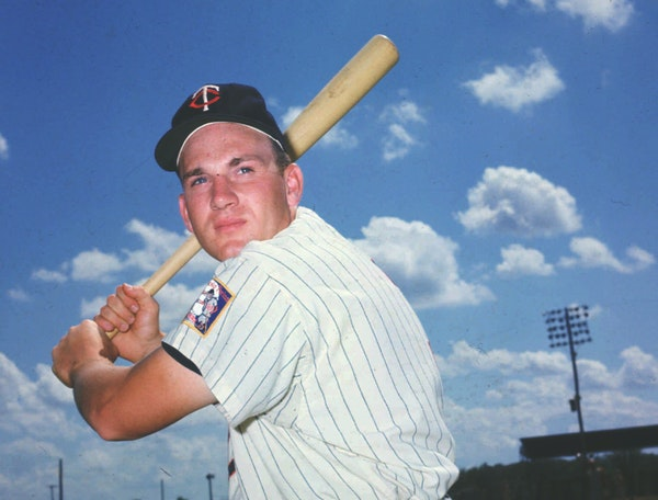 Still muscle-bound more than 20 years after retiring from baseball, Hall of Famer Harmon Killebrew, shown in this undated photo, thinks even he could