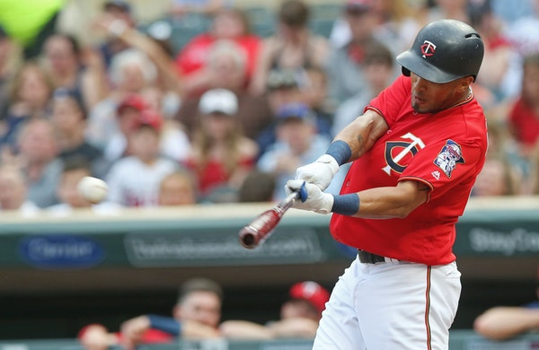 Eddie Rosario singled off Baltimore Orioles pitcher Dylan Bundy in the first inning