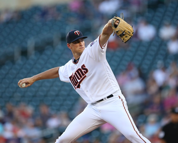 Twins starter Aaron Slegers, just up from Class AAA Rochester, gave up only one run in six innings to lift the Twins over Baltimore 5-2 and help the t
