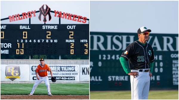 The Milroy Yankees and Milroy Irish both represent a town of 243 people in southwestern Minnesota. But they are in separate leagues and have never pla