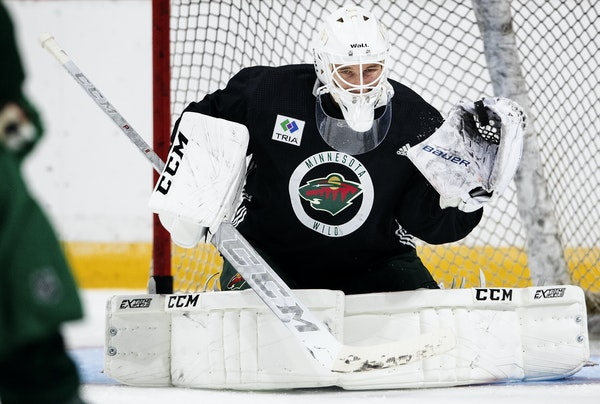 Kaapo Kahkonen, a fourth-round draft choice in 2014, faced shots at the Wild's developmental camp this week in St. Paul.