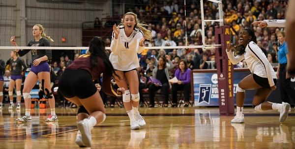 Samantha Seliger-Swenson has helped the Gophers reach two Final Fours. The senior would like to make it three this year.