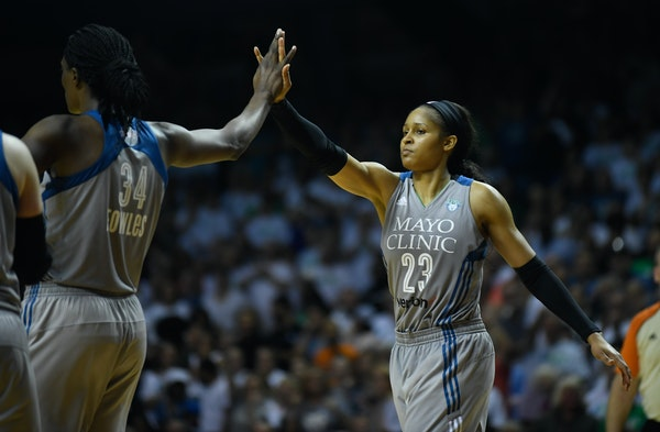 Sylvia Fowles (34) and Maya Moore (23) are among the leading candidates to be selected for the WNBA All-Star Game.