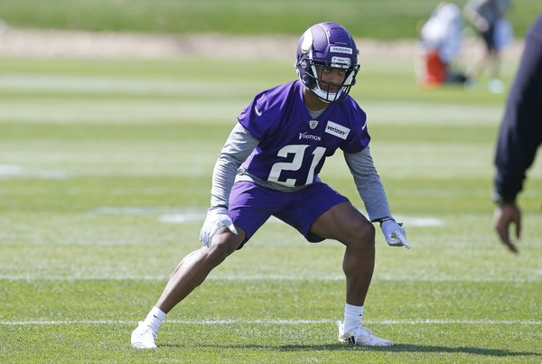 Minnesota Vikings first-round pick, cornerback Mike Hughes. (AP Photo/Jim Mone)