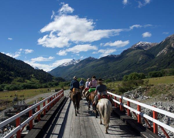 A horseback ride in remote Patagonia.