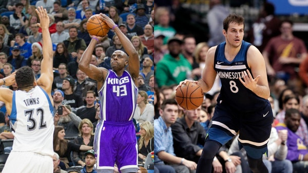 The Timberwolves reached agreement with Anthony Tolliver (left), a three-point-shooting big man, on a one-year contract believed to be worth $5.75 mil