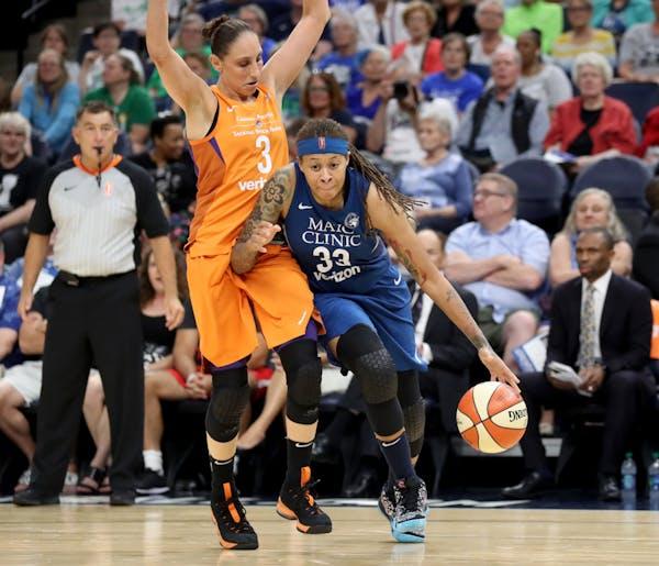 David Joles • Minneapolis Star Tribune/TNS) The Minnesota Lynx's Seimone Augustus and the Phoenix Mercury's Diana Taurasi are two of the WNBA'
