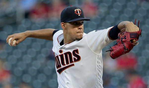 """Twins pitcher Jose Berrios says he is honored to be an AL All-Star and is taking his wife and two children to the game. """"I'll keep working,"""" he"""