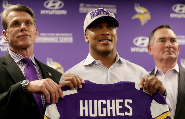 The Vikings want first-round pick Mike Hughes, a cornerback from Central Florida, to be a star. But their Super Bowl hopes this season don't depend