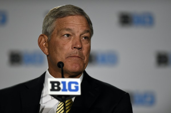 Iowa coach Kirk Ferentz met with the media Tuesday at Big Ten Media Days in Chicago.